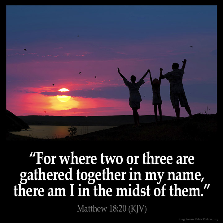 Matthew 18:20 Inspirational Image
