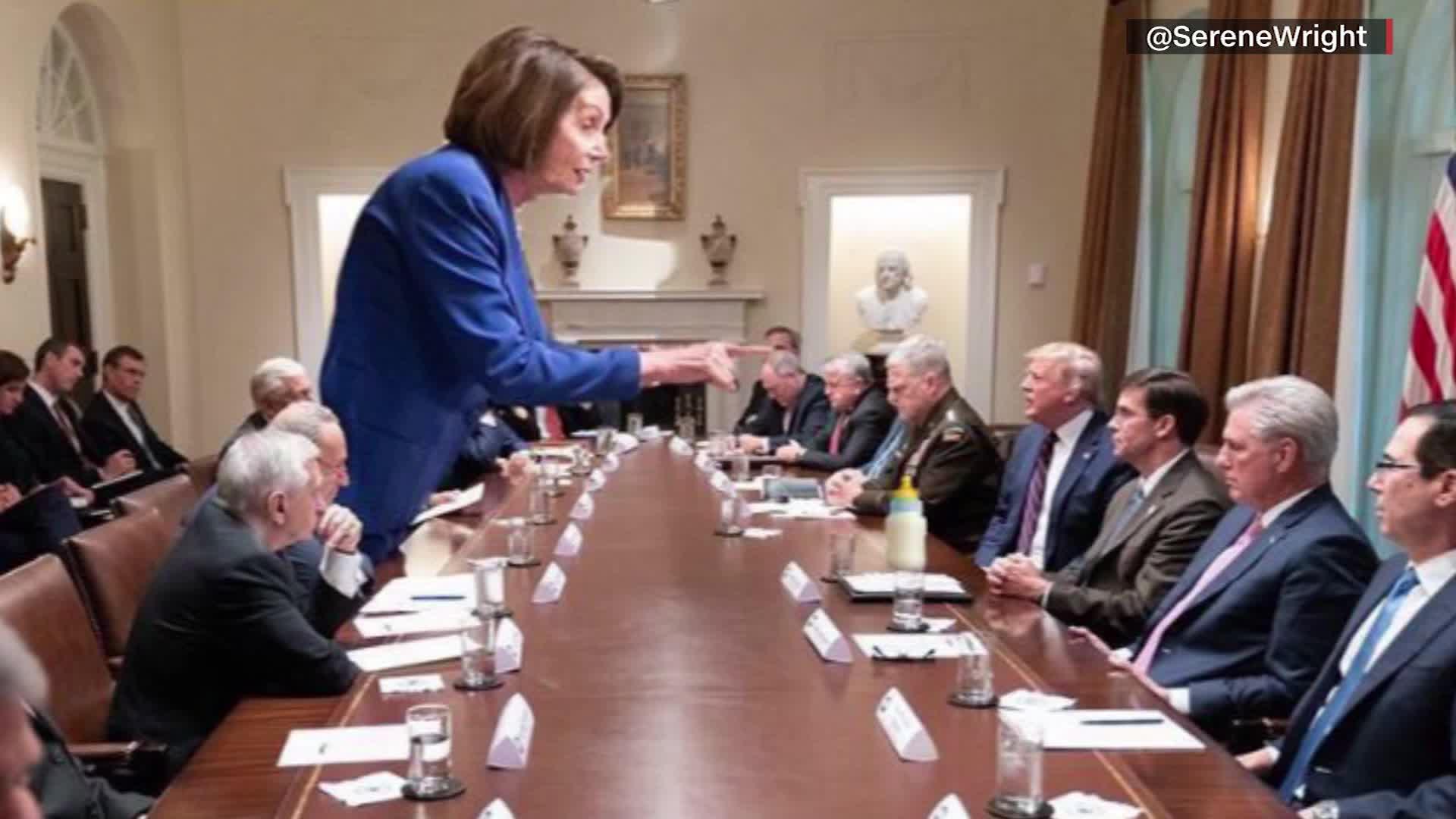 Internet melts down over Nancy Pelosi photo from Trump meeting - CNN Video