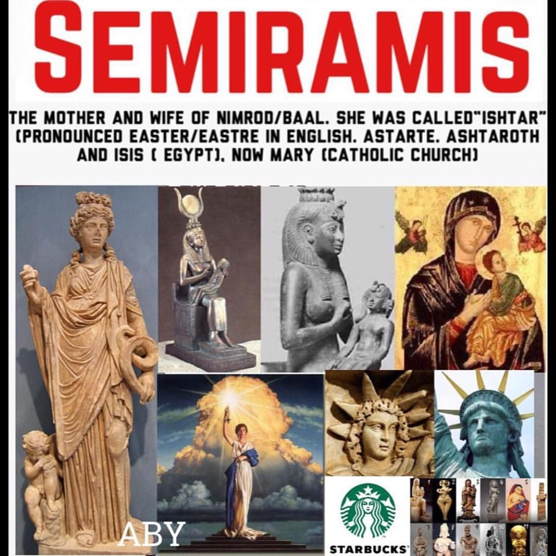 Jesus & Mary now, were Nimrod/Tammuz & Semiramis back in the day. Easter or  it's bunny & eggs have nothing to do … | Bible history, History facts,  Bible knowledge