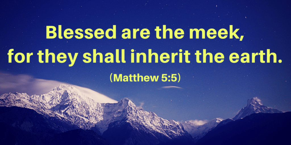 The Meek Will Inherit the Earth 5%sitename%%Mount Zion – Bible Study
