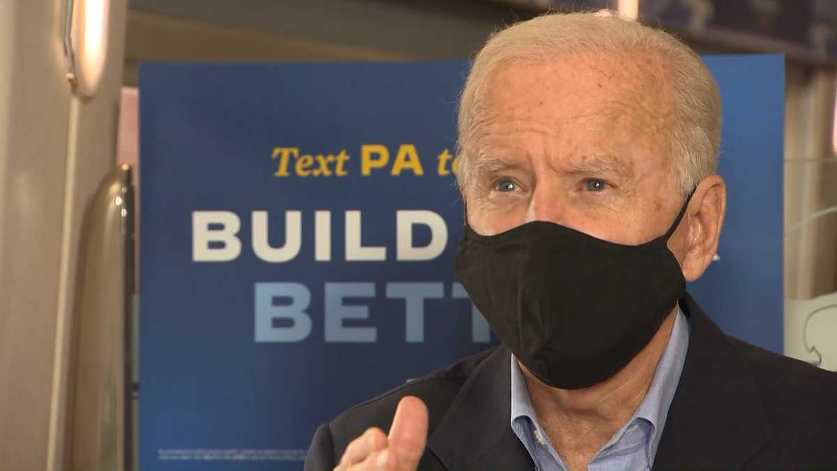 Joe Biden speaks with Pittsburgh's Action News 4 in one-on-one interview  during train tour