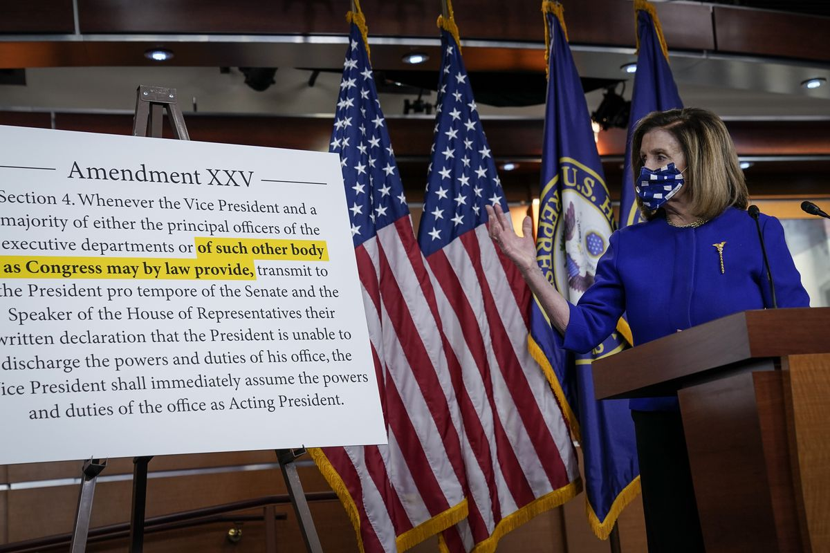 What Nancy Pelosi said about the 25th Amendment - Vox