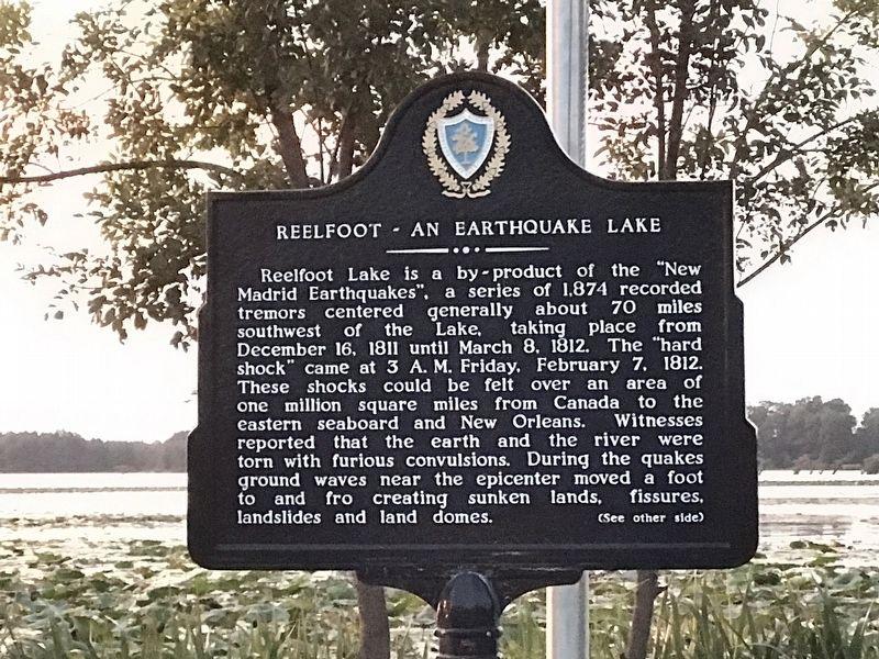 Reelfoot — An Earthquake Lake Historical Marker