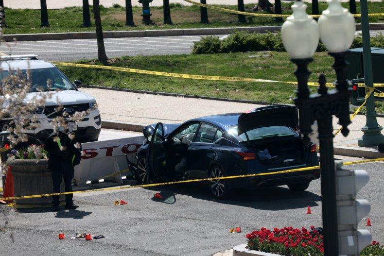 vehicle charged U.S. Capitol barricade