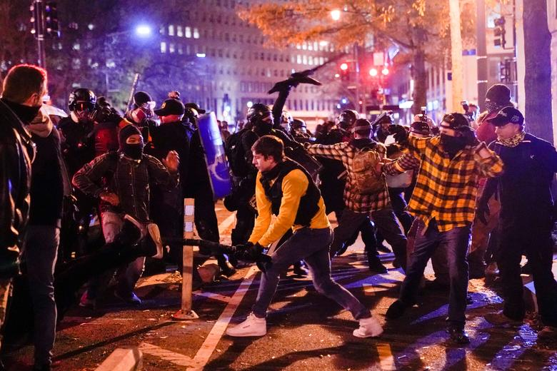Opposing groups clash after pro-Trump protests decry president's election  loss | Reuters.com