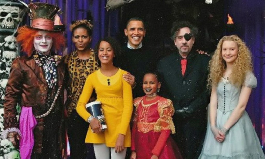 Inside Obamas' secret Alice In Wonderland-themed Halloween party at White  House | Daily Mail Online