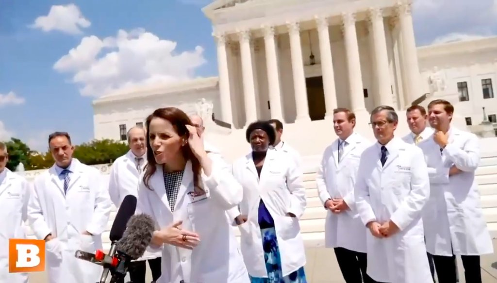 PolitiFact | Fact-checking a video of doctors talking about coronavirus,  hydroxychloroquine