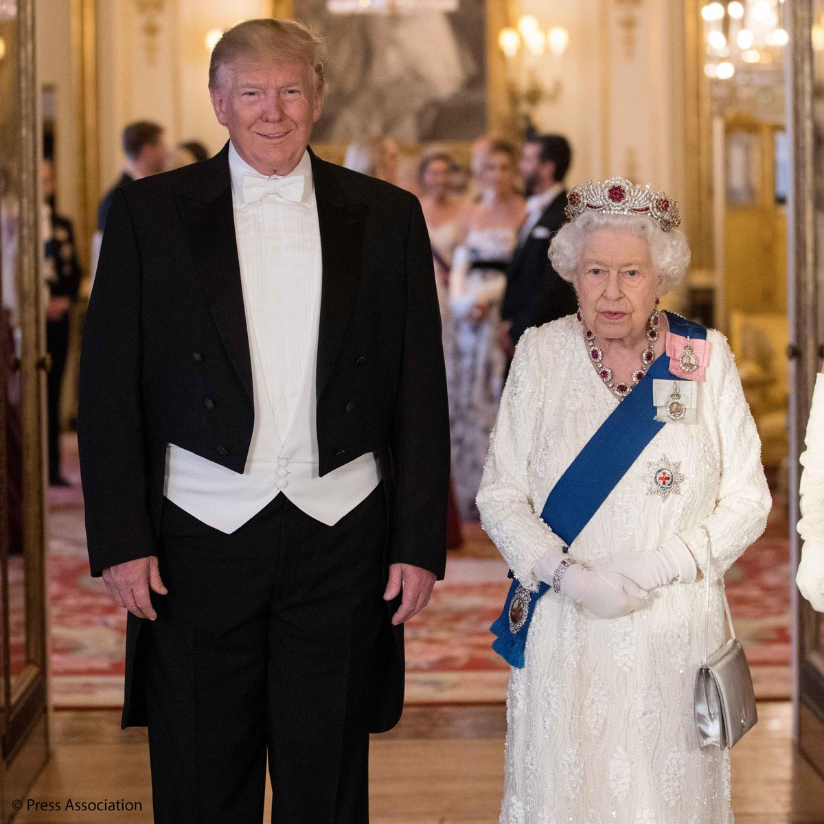 """The Royal Family on Twitter: """"'Mr President, as we look to the future, I am  confident that our common values and shared interests will continue to  unite us.' In her speech, The"""
