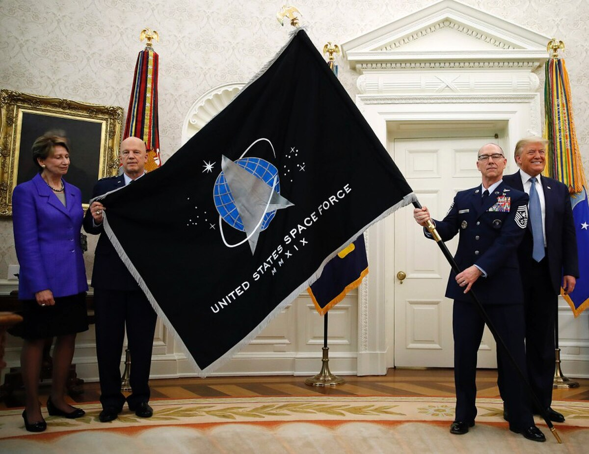 Here's your first look at the Space Force flag