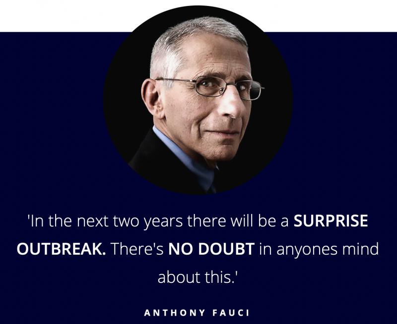 Anthony Fauci quote - coronavirus prediction