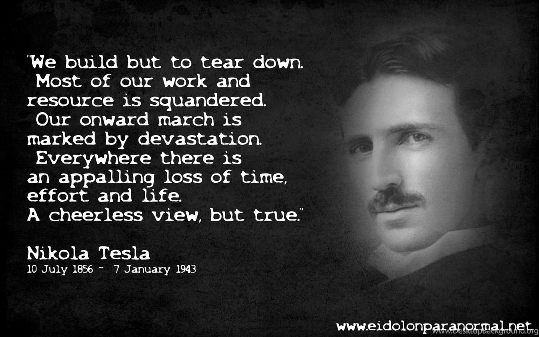 Nikola Tesla Quotes On Love Album On Quotesvil.com Desktop Background