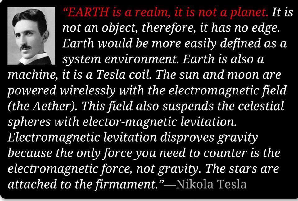 Tesla knew the earth was flat. - Album on Imgur