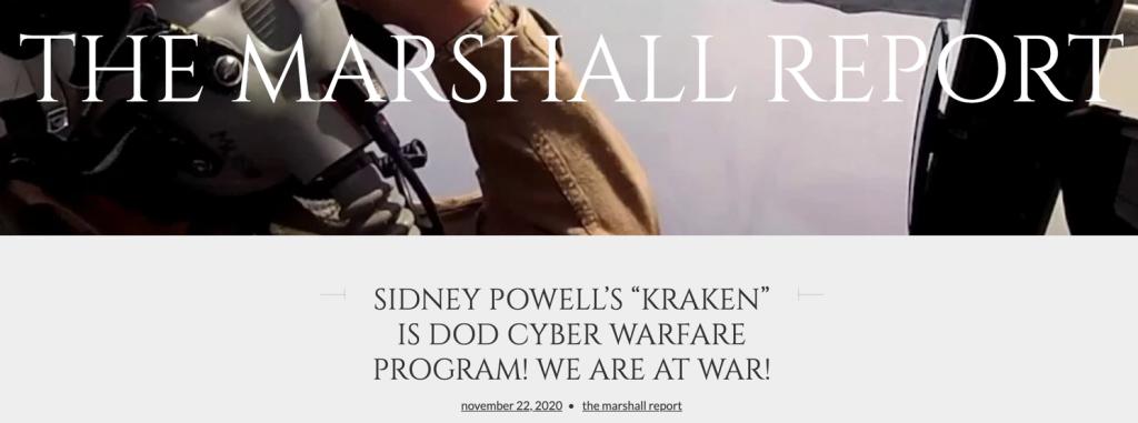Marshall Report Kraken