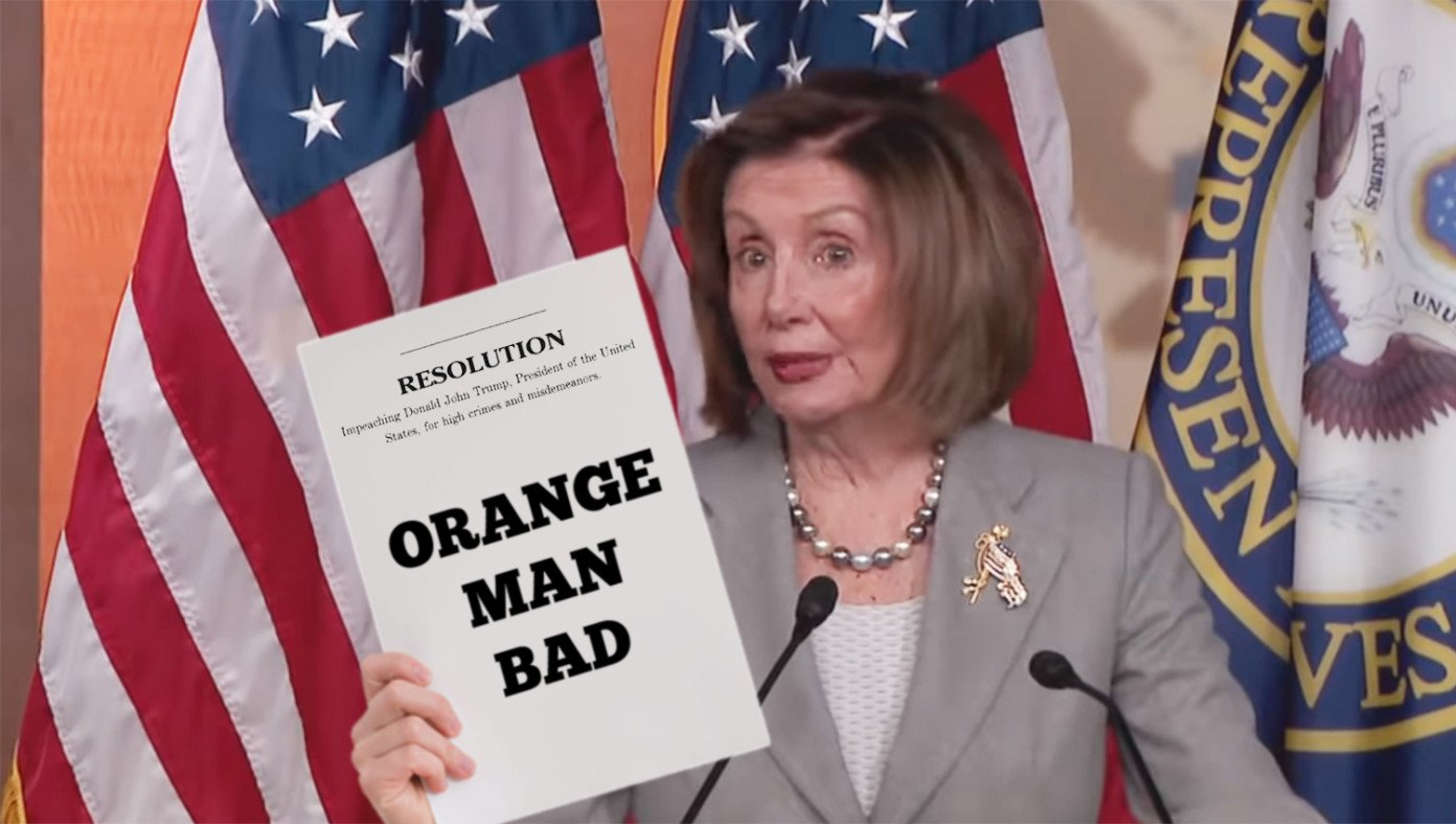Articles Of Impeachment Updated To Read 'Orange Man Bad' | The Babylon Bee