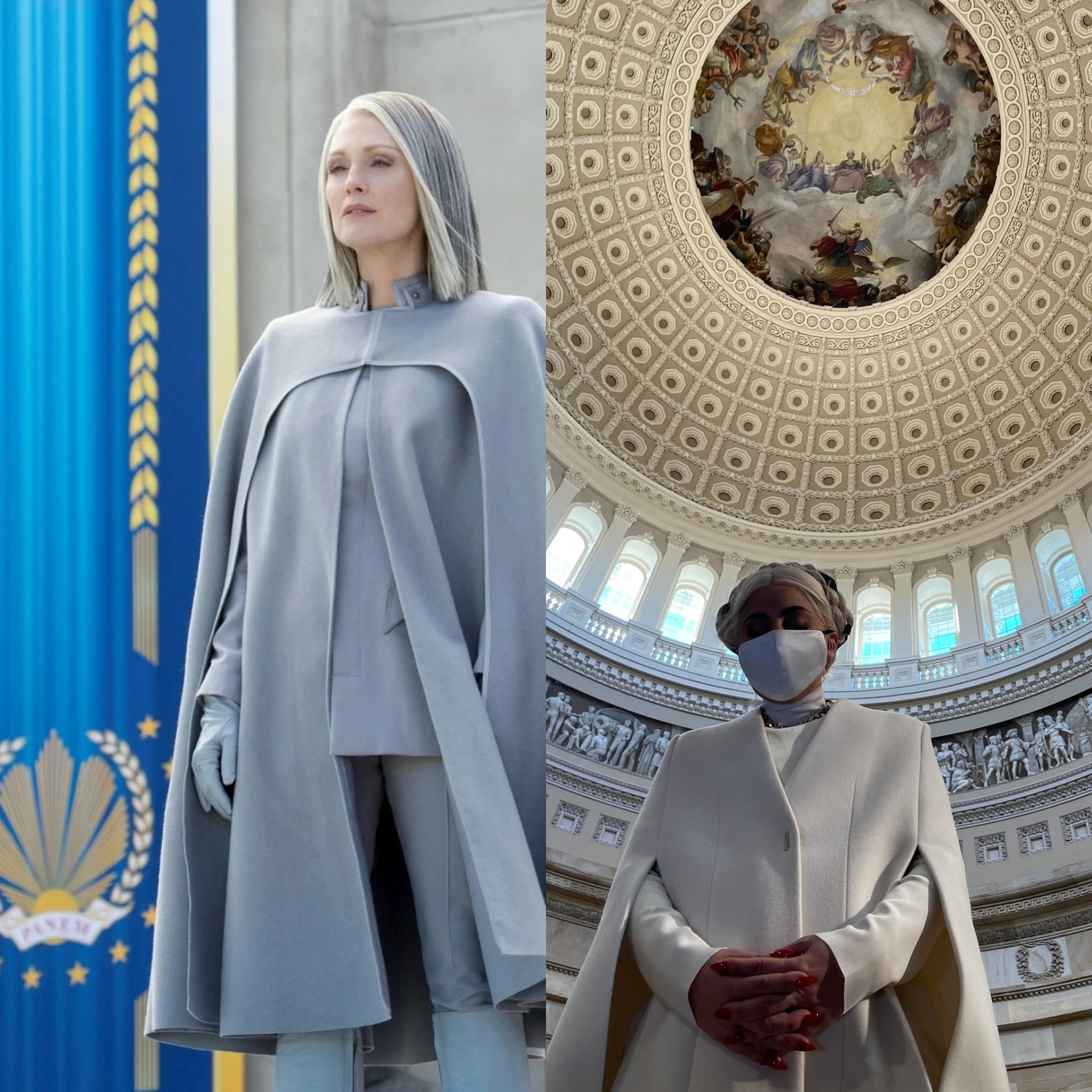 Someone on twitter said that Lady Gaga in the Capitol looks like Coin and  now i cant unsee it : Hungergames