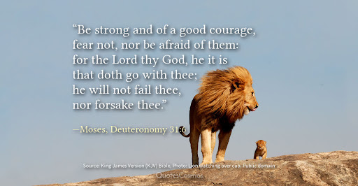 """Be strong and courageous"""", Deuteronomy 31:6 - QuotesCosmos"""