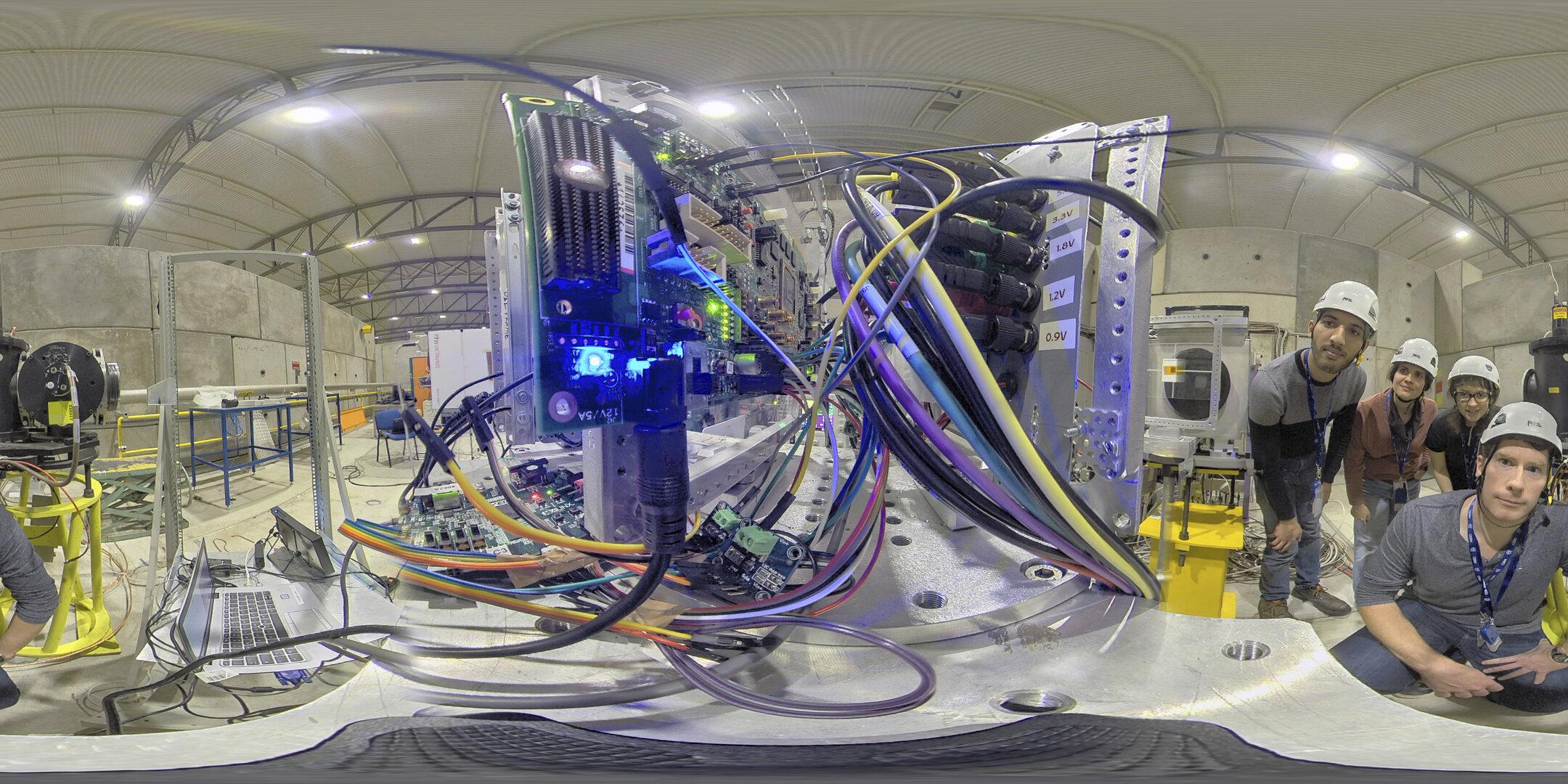 ESA - ESA team blasts Intel's new AI chip with radiation at CERN