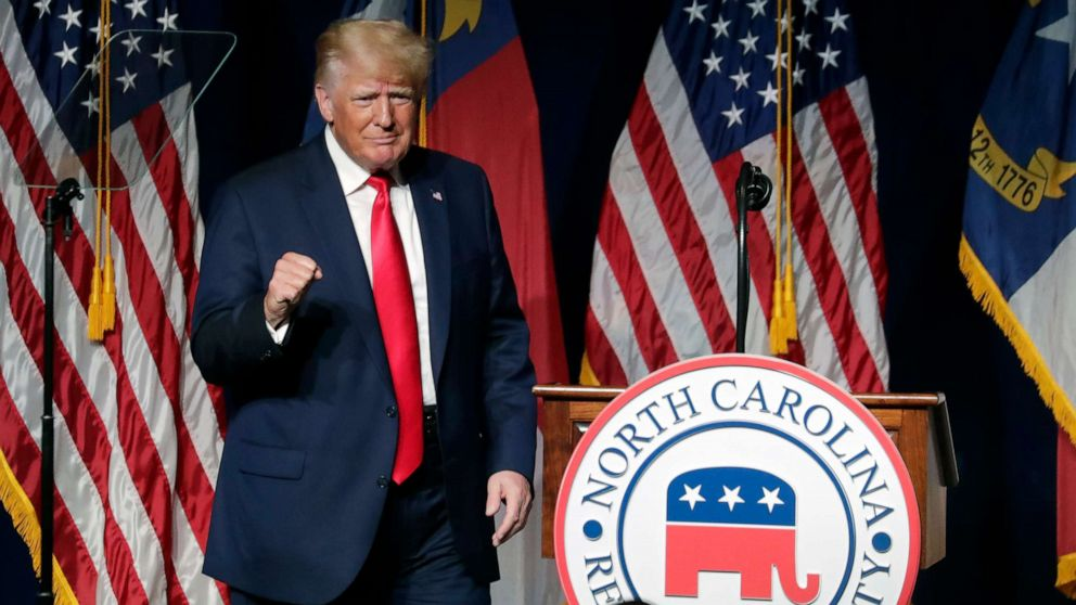Donald Trump returns to stage with speech at North Carolina GOP convention  - ABC News